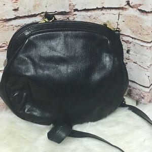 VTG FENDI Small Black Leather Crossbody/Handbag